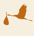 crane with a bag color vector image vector image