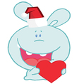 Christmas Romantic Bunny With Heart vector image vector image