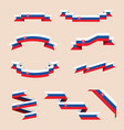 ribbons or banners in colors of slovak flag vector image