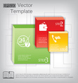 3d square plastic glossy element for infographic vector image