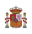 hand drawn of spain coat of arms vector image