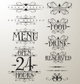 decorative text design element vector image