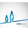 background with arrow vector image vector image
