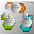 embossed infographics in 3 steps vector image