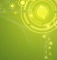 green tech abstract background vector image vector image
