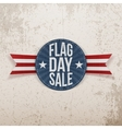 Flag Day Sale festive Label with Text and Shadow vector image