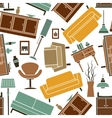 Seamless furniture interior accessories pattern vector image vector image