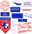 air mail stamp set vector image