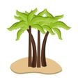 sand with beach palms graphic vector image