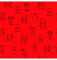 Seamless with Chinese Hieroglyphs vector image