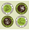 Set of Natural Organic Product badges vector image