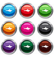 shark fish set 9 collection vector image