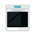 white modern stove vector image