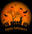 wishes for happy halloween trick or treat vector image