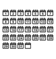 Simple Calendar Month Icons Set vector image vector image