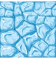 Blue ice seamless pattern vector image vector image
