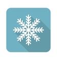 Square snowflake icon vector image