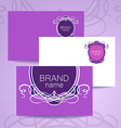 brand name frame logo vector image vector image