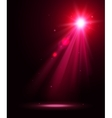 Abstract disco background with pink spot lights vector image