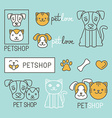 Pet logo design elements vector image