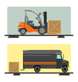 Forklift Truck Delivery Logistics Industry Cargo vector image