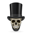 Human skull with beard and hat on vector image