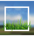 landscape with grass vector image