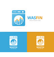 laundry and graph logo combination vector image