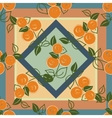 seamless pattern with branches of orange vector image