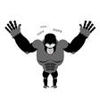 Surprised Gorilla says oops Perplexed monkey vector image