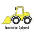 the bulldozer vector image