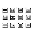 Various railings for balconies vector image