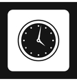 Wall mounted round mechanical watch icon vector image