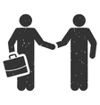 Persons Contract Icon Rubber Stamp vector image
