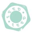 Leed stamp rubber grunge vector image