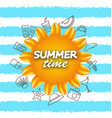 banner for summer time vacation background with vector image
