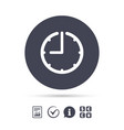 clock time sign icon watch or timer symbol vector image