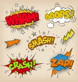 Grunge Comic Sounds set2 vector image vector image