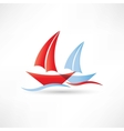 sailboats in the sea icon vector image vector image