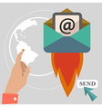 Flat design concept icons of hot mail vector image