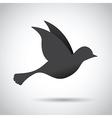 black bird vector image