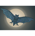 Ornamental bat vector image