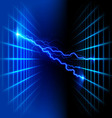 Dimensional grid space with light vector image vector image