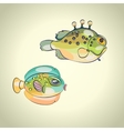 Colorful tropical fish vector image