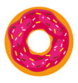 donut with confectionery on a white background vector image