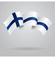 Finnish waving Flag vector image