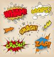 Grunge Comic Sounds set2 vector image