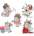 Happy cows Clip-Art Cartoon vector image