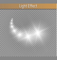 light glow effect stars bursts with sparkles vector image