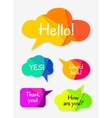 Set of abstract talk bubbles vector image